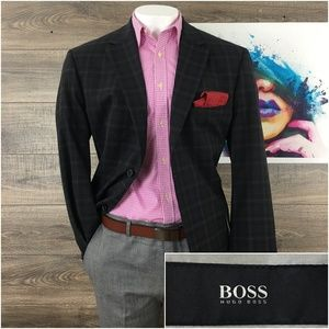 Mens Blazer Sport Coat Jacket Wool Hugo Boss